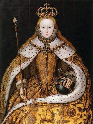 A copy from a lost original of Elizabeth's coronation portrait, before she supposedly lost her hair