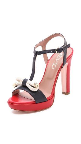 RED Valentino Nautical High Heel Sandals