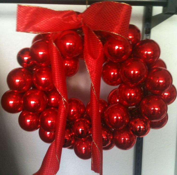 Second wreath out of Christmas bulbs..