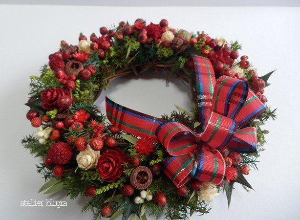 atelier BLUGRA八ヶ岳〜 ノイバラの実MiniWreath09 - アトリエ ブルグラ