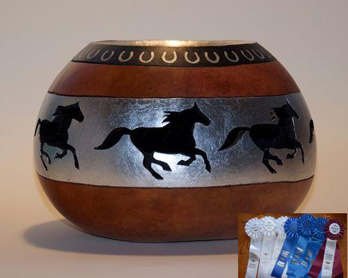 """Horse gourd 2"" Artist: Jennifer Hershman."