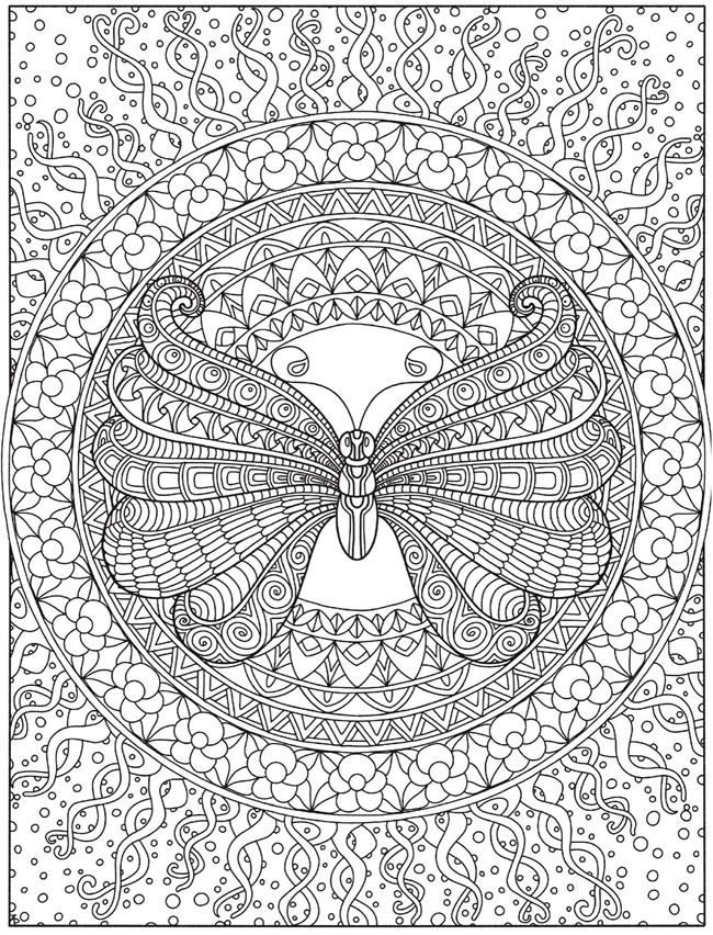 Https Www Doverpublications Com Zb Samples 82814x Sample7e Html Mandala Coloring Pages Mandala Coloring Butterfly Coloring Page
