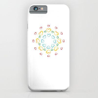"Hearts. ""Mandala"". Circle. Watercolor traced in vector. iPhone & iPod Case by Kira Sokolovskaya - $35.00"