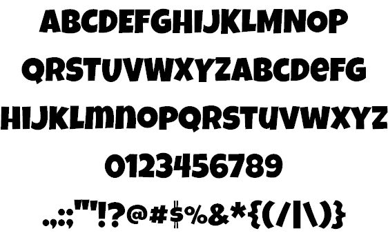 Luckiest Guy Font by Astigmatic One Eye Typographic ...