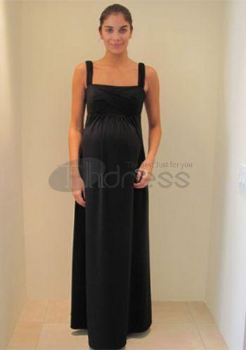 Maternity Evening Dresses-black chiffon a-line maternity evening dresses