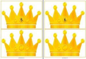 De kroonkaarten zijn er in drie versies: Kronen van 0 t/m 20 met diamanten…