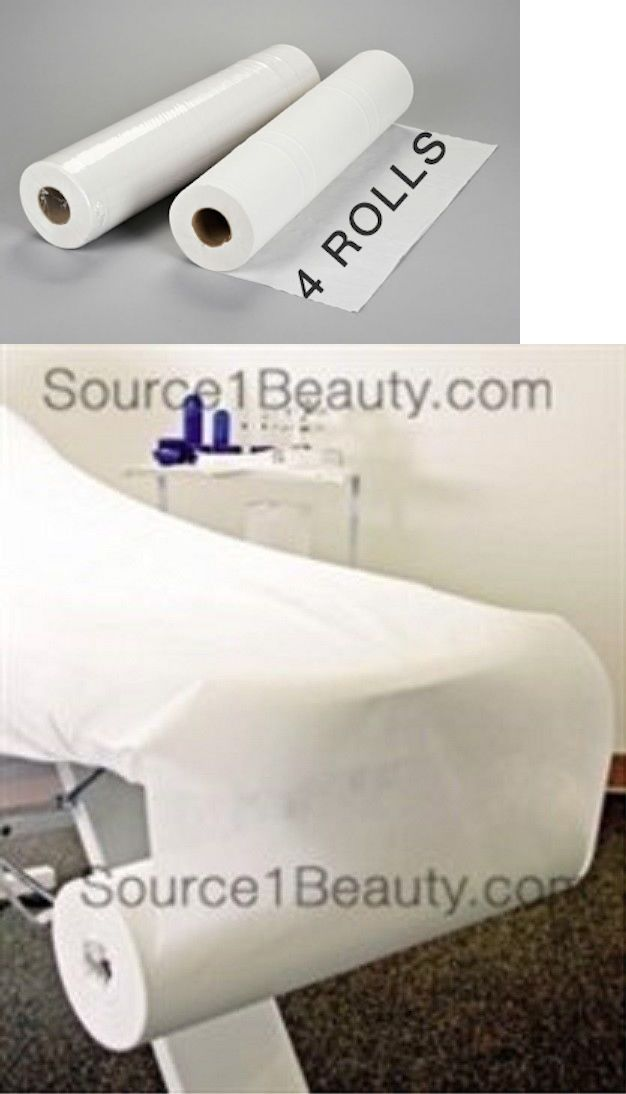 Other Massage Equipment and Accs: 4 Rolls Disposable Bed Rolls Sheets For Massage Facial Waxing 24 X 330 BUY IT NOW ONLY: $104.95