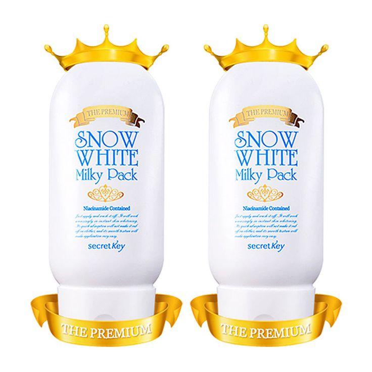 [SECRET KEY] [1+1] Snow White Milky Pack The Premium * 2pcs / Premium whitening #SecretKey