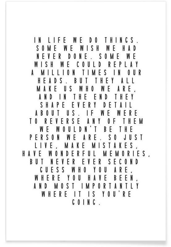 Life Is Beautiful als Premium Poster von Honeymoon Hotel   JUNIQE ab 12.-