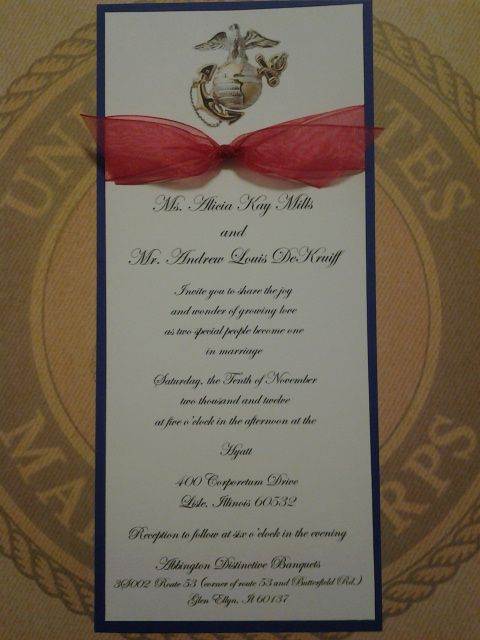 We Specialize In Customized Military Wedding Invitations We Offer A Creative And Affordable