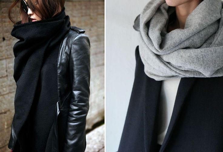 Как носить шарф / платок: часть 2