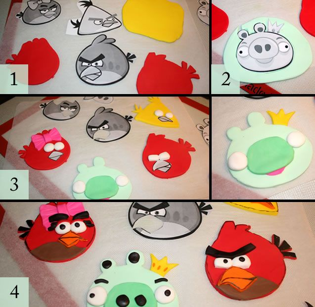 angrybirds  using cut out as a guide  -emoticakes-