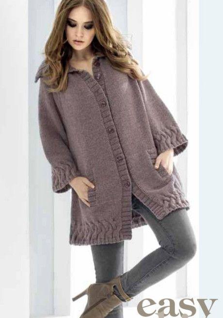 Жакет – пальто спицами