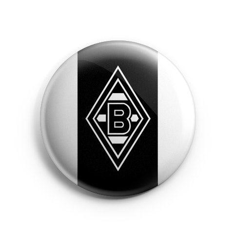 Borussia M'Gladbach Logo Away by Hat-Trick Stickers Pinback button or magnet 38mm.Borussia M?nchengladbach Logo AwayColor: White/BlackSize: 38mmWeight: 5g