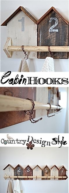 Cabin Hooks Visit & Like our Facebook page! https://www.facebook.com/pages/Rustic-Farmhouse-Decor/636679889706127
