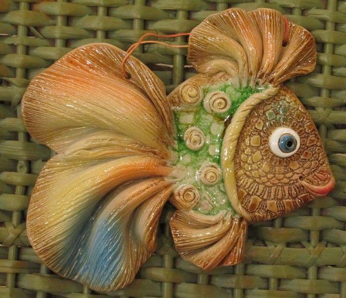 """Морские рыбки """"на удачу"""" из соленого теста. Обсуждение на LiveInternet…"""
