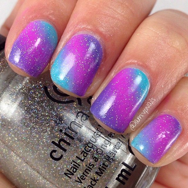122 best Nail Art: Gradient nails images on Pinterest | Gradient ...