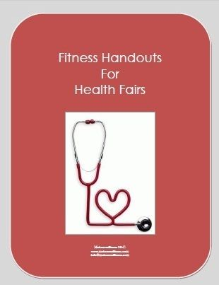 Fitness handouts for health fairs.