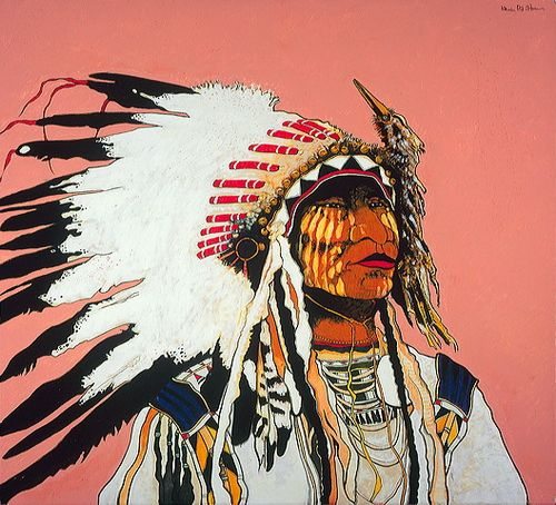 Bird Fisher Medicine - Kevin Red Star, watercolor