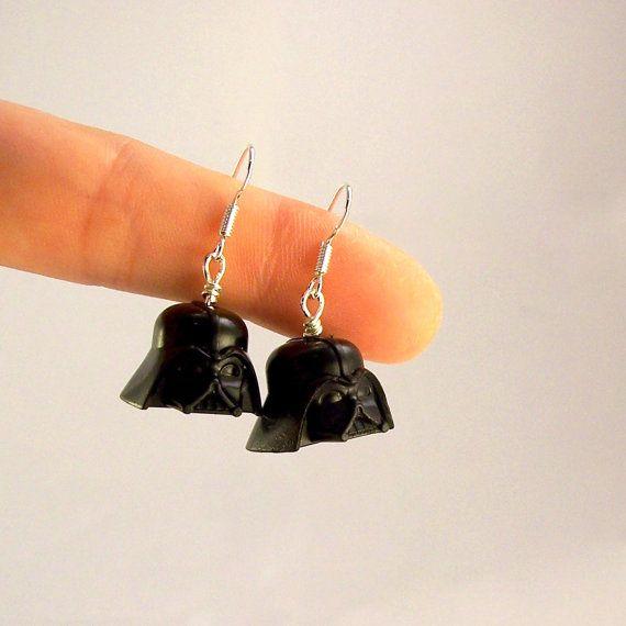 Darth Vader helmet #Lego earrings by #mermaidsays via #Etsy #StarWars #DarthVader #DarkSide