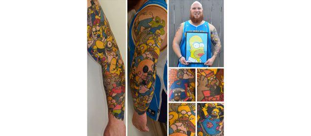 Super Intense Simpsons Fan Sets Cartoon Character Tattoo Record