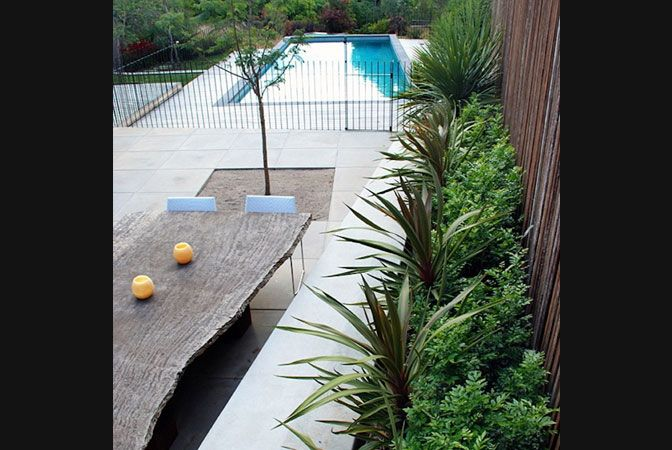 Great pool fence, and the table is pretty attractive too.