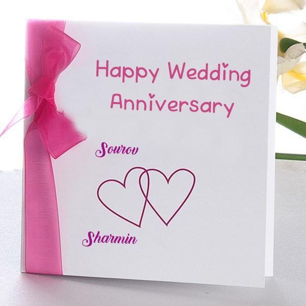 Online Wedding Anniversary Name Wish Card Edit Photo My Name Pix Cards Happy Wedding Anniversary Cards Happy Anniversary Cards Marriage Anniversary Cards