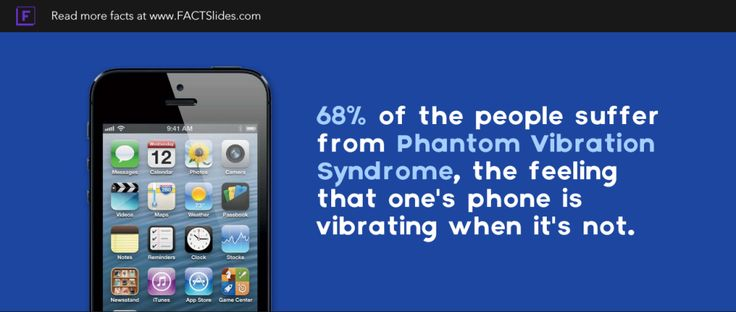 68% of the people suffer from Phantom Vibration Syndrome, the ...