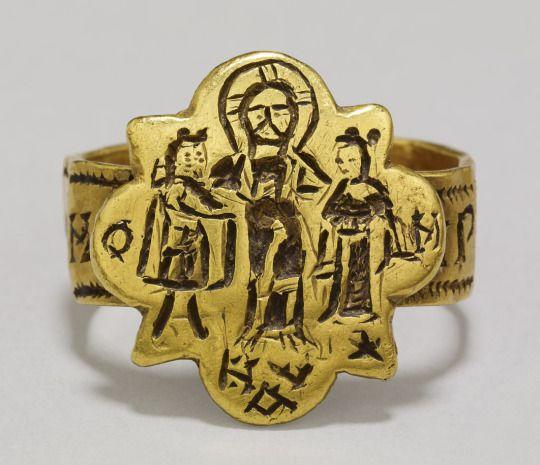 British Museum — This Byzantine wedding ring from Agrigento, Sicily...