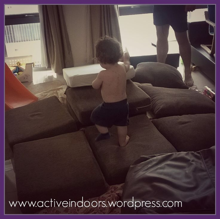 Indoor Obstacle Course: A great activity for when you can't get outside!