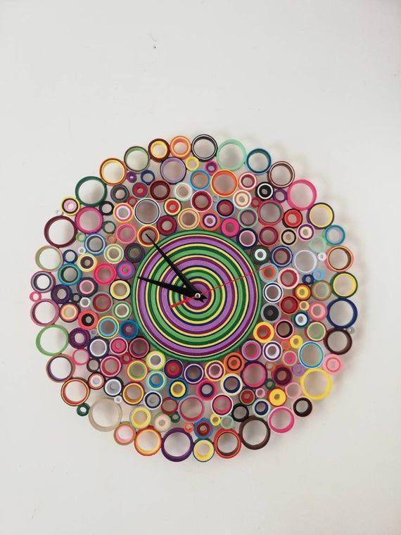 Orologio da parete, Orologio di carta, Orologio Colorato
