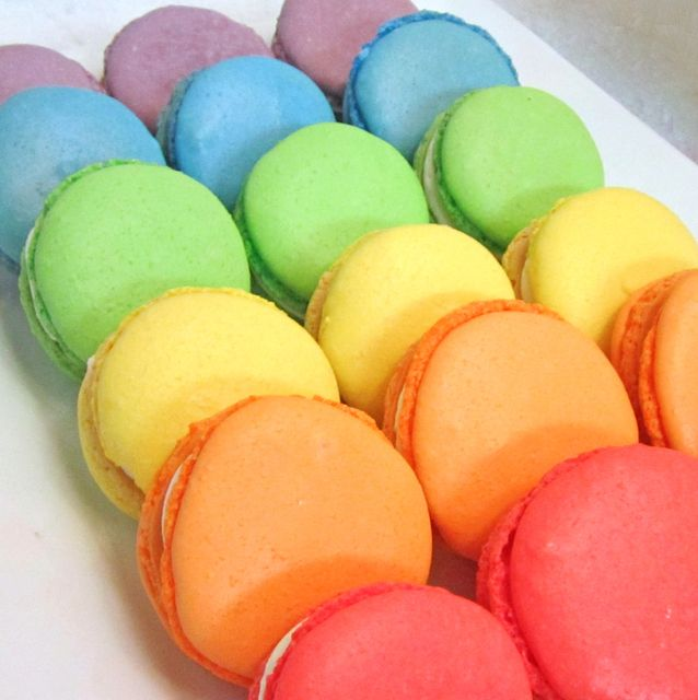 Loving these rainbow macarons at a My Little Pony party!  See more party ideas at CatchMyParty.com!  #partyideas #mylittlepony