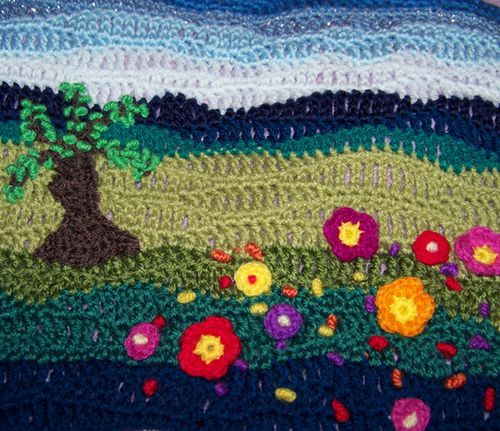 Freeform Crocheted Scene by colourcreations, via Flickr