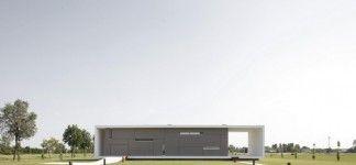 Striking Contemporary House Design with Futuristic Architecture: Modern Geometric Shape Architecture Contemporary Monolithic House Design