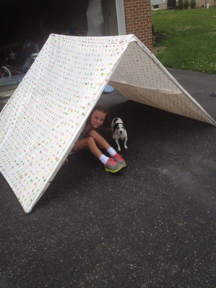 PVC PIPE TENT ; FOR EASY CAMPING INDOORS   Macaroni Kid