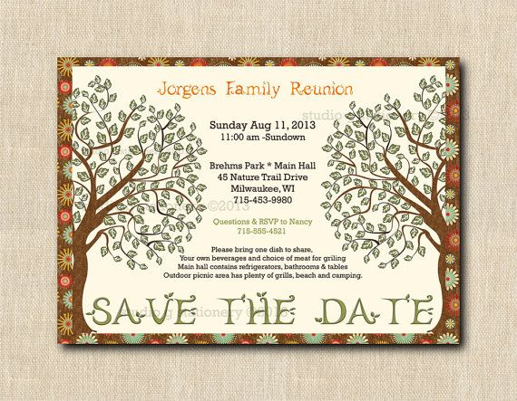 Family Reunion Save the DAte  DIY Digital by StudioGStationery, $20.00