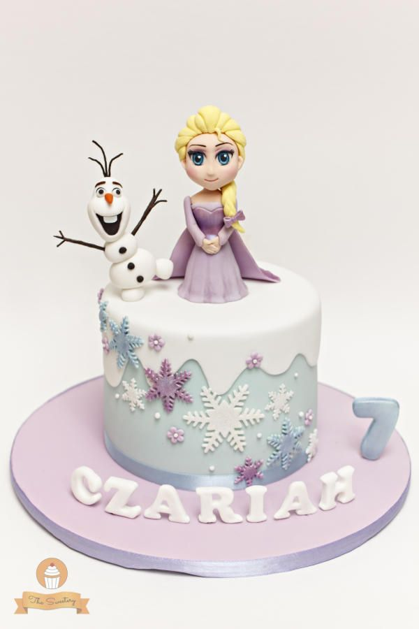 Elsa & Olaf Frozen Cake by The Sweetery - by Diana