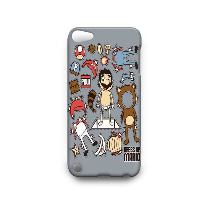 Dress up Mario Art iPod Touch 4th 5th HTC One M7 M8 Case