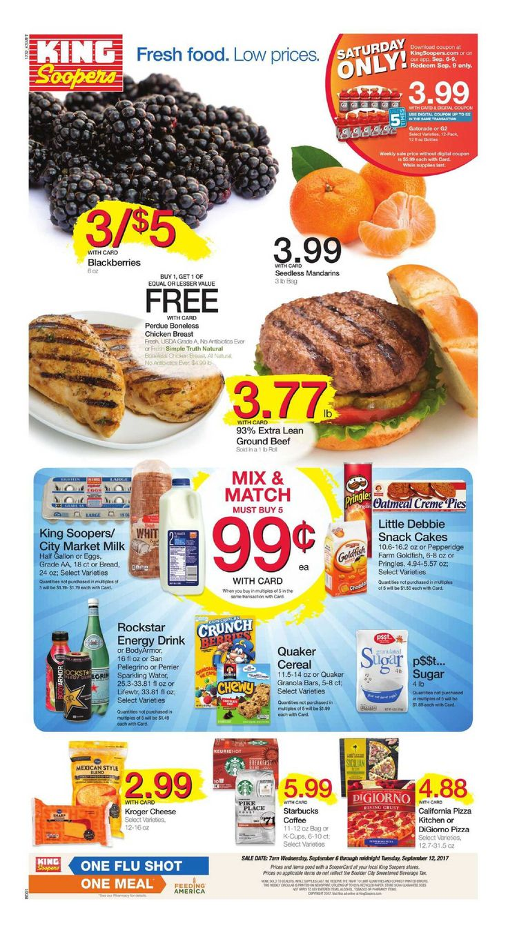 King Soopers weekly ad September 6 - 12, 2017 - http://www.olcatalog.com/grocery/king-soopers-weekly-ad.html