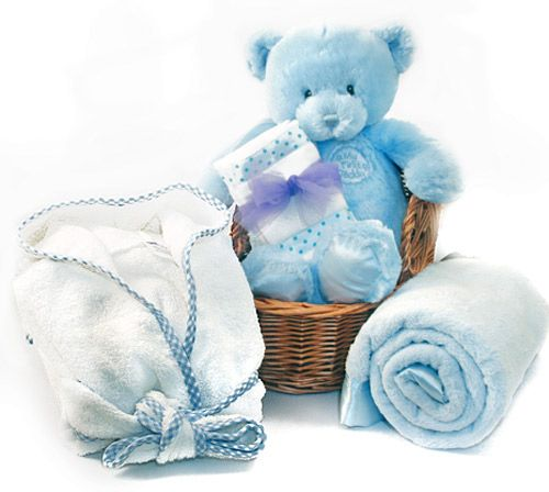 71 best baby gift ideas handmade baby gifts images on pinterest the my first baby gift basket blue negle Choice Image
