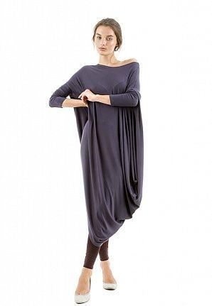 Платье Asymmetric lounge темно-серое