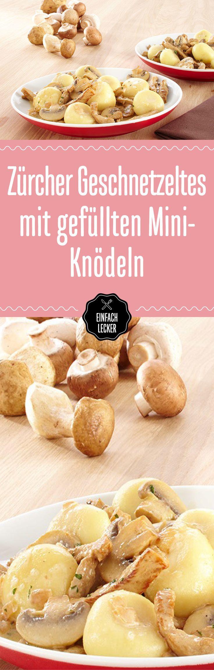 Grüezi guter Geschmack. Denn wir kombinieren ein Schweizer Nationalgericht mit gefüllten Mini-Knödeln. Fein!
