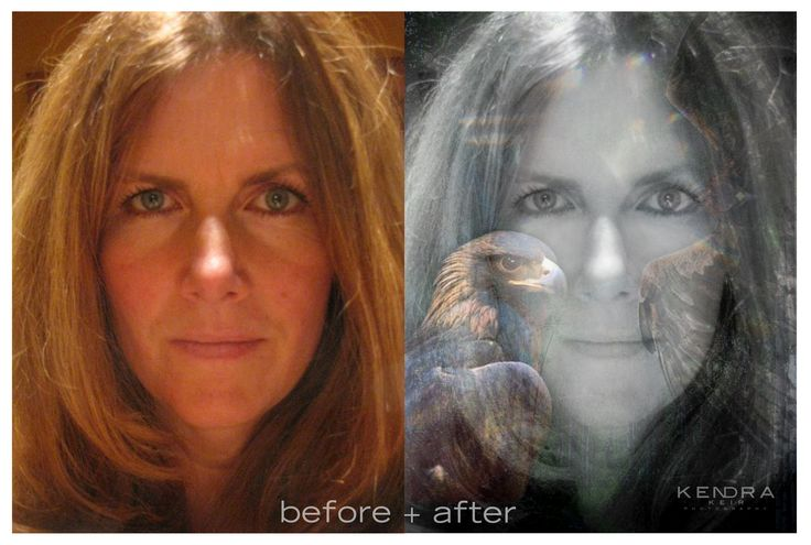 before and after ethereal photo fusion ©2015 Kendra Keir #etherealart #fusionart #inspirationalportraits