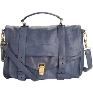 Proenza Schouler navy leather PS1 bag in large size. SWOON.