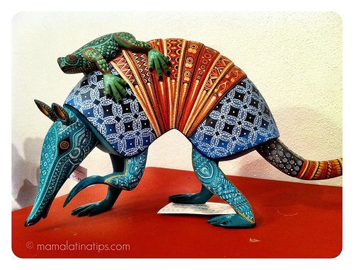 Alebrijes - Armadillo with frog on its back