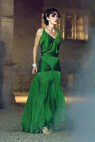 long, drapey, backless, emerald, perfect; color of reception dress that might be cute!