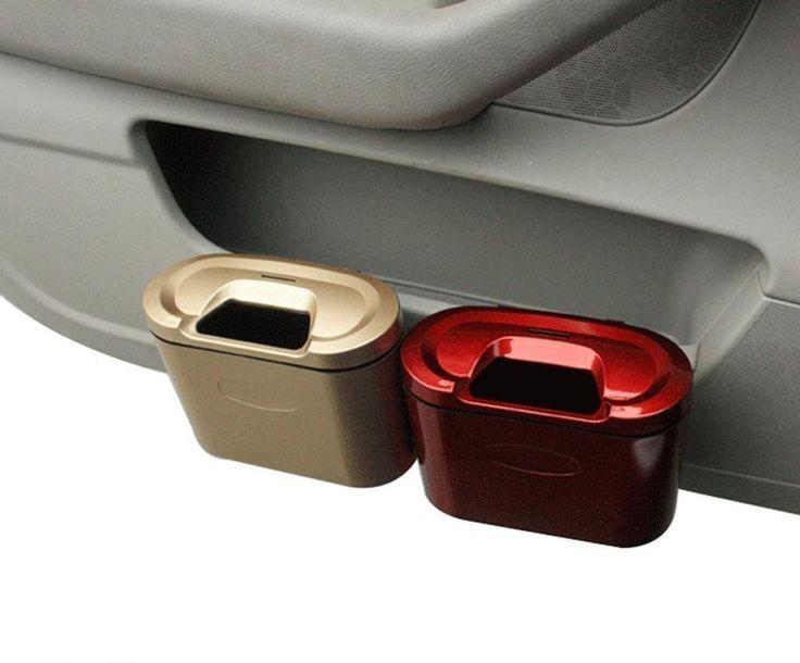 Car Trash Can Dustbin Mini Garbage Can Car Accessories Car Cleaning Supplies New #Crusar