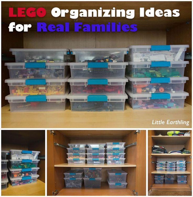 LEGO Organizing Ideas for Real Families. I love this! So perfect and nice to look at. My children easily maintain this system.