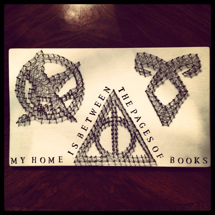 My Harry Potter / Hunger Games / The Mortal Instruments String Art!