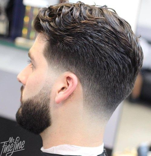 taper haircut for wavy hair